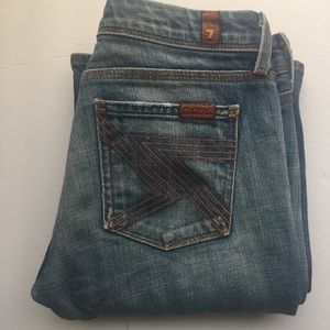 7 For All Mankind Flynt Jeans Sz 26 Light Wash